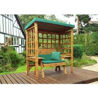 Charles Taylor Wentworth Restful 2 Seat Arbour - Green Cushions