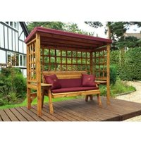 Charles Taylor Wentworth Restful 3 Seat Arbour - Burgundy Cushions
