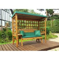 Charles Taylor Wentworth Restful 3 Seat Arbour - Green Cushions