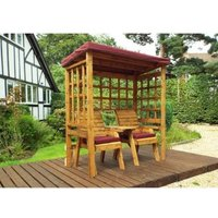 Charles Taylor Henley Seat Arbour Burgundy Roof With Burgundy Cushion