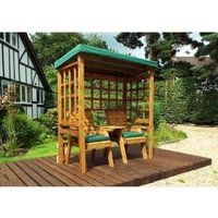 Charles Taylor Henley Seat Arbour Green Roof With Green Cushion