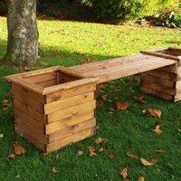 Charles Taylor 2 Seat Garden Planter Bench