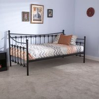 Memphis Single Day Bed Black Metal
