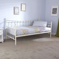 Memphis Single Day Bed White Metal