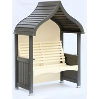 AFK Premium Orchard Arbour Charcoal and Cream 2 Seat