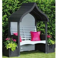 AFK Premium Orchard Arbour Charcoal and Stone 2 Seat