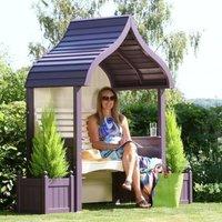 AFK Premium Orchard Arbour Lavender and Cream 2 Seat