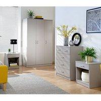 Panama 4 Piece Bedroom Set Grey