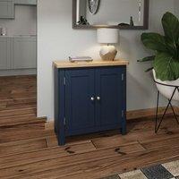 Westbridge Light Oak and Blue 2 Door Sideboard