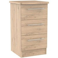 Colby Bedside Brown 3 Drawers