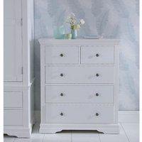 Swafield Grey and Pine Chest Of 5 Drawers