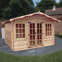 Albany Sheds Charnwood 12 x 8 Apex Wood Garden Summer House
