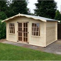 Albany Sheds Charnwood 12 x 12 Apex Wood Garden Summer House