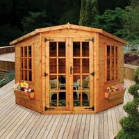 Albany Sheds Lincoln 9 x 9 Corner Shiplap Wood Garden Summer House