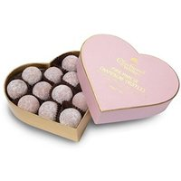 Pink Marc de Champagne truffle heart gift box 200g