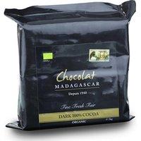 Chocolat Madagascar, Organic 100% dark chocolate couverture 1kg