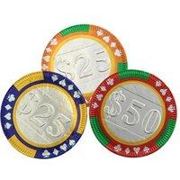 Chocolate casino poker chips - Bag of 75
