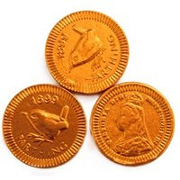Copper farthing chocolate coins - Bag of 100
