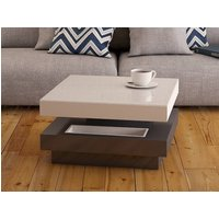 Product photograph showing Celia Roulette White And Grey High Gloss Coffee Table