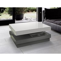 Product photograph showing Celia White And Grey High Gloss Coffee Table
