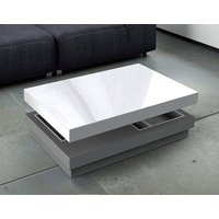 Product photograph showing Celia White And Grey High Gloss Large Coffee Table