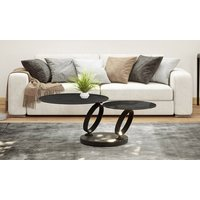 Product photograph showing Eolia Titanium Ceramic And Black Swivel Coffee Table