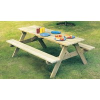 Alexander Rose Pine Woburn Picnic Table 5ft