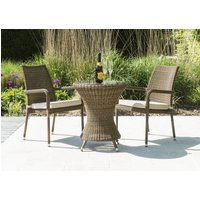 Alexander Rose San Marino Bistro Table with Glass