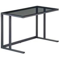 Alphason Air Black Glass Computer Desk - AW53385