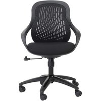 Alphason Croft Black Mesh Fabric Office Chair - AOC1010-M-BLK