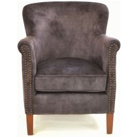 Product photograph showing Ancient Mariner Cromarty Charcoal Velvet Armchair