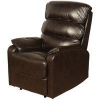 Product photograph showing Harmony Two Tone Dark Brown Faux Leather Recliner Chair