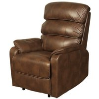 Product photograph showing Harmony Two Tone Tan Faux Leather Recliner Chair