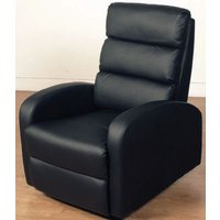 Product photograph showing Livorno Black Faux Leather Recliner Chair