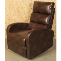 Product photograph showing Livorno Brown Faux Leather Recliner Chair