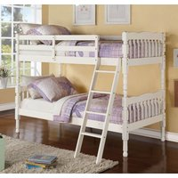 Product photograph showing Kerri Cream Bunk Bed