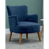Product photograph showing Keira Midnight Blue Fabric Armchair