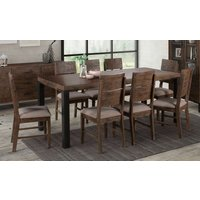 Product photograph showing Seville Dark Pine Dining Table And 6 Chairs