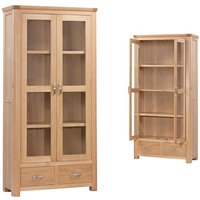 Product photograph showing Treviso Oak Display Cabinet