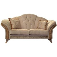 Product photograph showing Arredoclassic Melodia Golden Italian Fabric 2 Seater Sofa