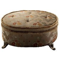 Click to view product details and reviews for Arredoclassic Tiziano Italian Fabric Pouf Palace.
