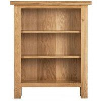 Product photograph showing Vancouver Compact Oak Low Bookcase