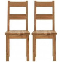 Product photograph showing Vancouver Sawn Oak Dining Chair Pair