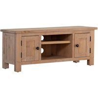 Product photograph showing Vancouver Sawn White Washed Oak 2 Door Tv Unit