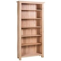 Product photograph showing Vancouver Sawn White Washed Oak Tall Bookcase