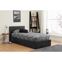 Product photograph showing Birlea Berlin Black Faux Leather Ottoman Bed