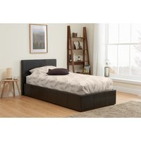Product photograph showing Birlea Berlin Brown Faux Leather Ottoman Bed