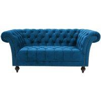 Product photograph showing Birlea Chester Midnight Blue Fabric 2 Seater Sofa