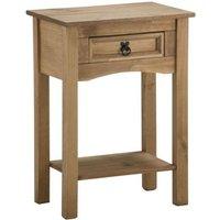clearance birlea corona mexican waxed pine console table with shelf  1 drawer  b27