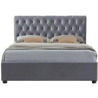 Product photograph showing Birlea Marlow Grey Velvet Fabric Bed